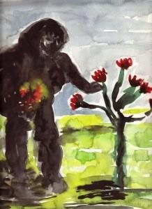 monster gathering flowers